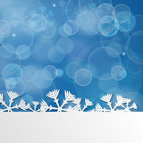 Blue Christmas background with snowflakes Royalty Free Stock Images