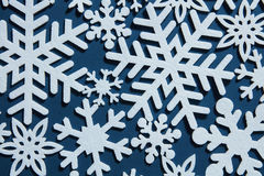 Blue Christmas background with snowflakes Royalty Free Stock Image