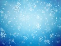 Blue Christmas background with snowflakes. Modern style royalty free illustration