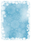 Blue christmas background with snowflakes. EPS 8 Royalty Free Stock Image