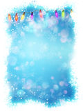 Blue christmas background with snowflakes. EPS 10 Royalty Free Stock Photo