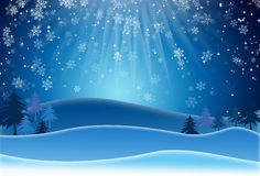 Blue Christmas Background With Snowflakes. Raster Version Royalty Free Stock Images