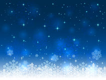 Blue Christmas background with snowflakes Stock Photography