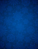 Blue christmas background with snowflakes and stars, vector Stock Photos