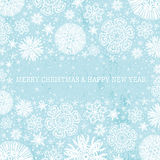 Blue christmas background with snowflakes,  vector Stock Image