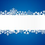 Blue Christmas background with snowflakes. Vector Illustration Stock Image