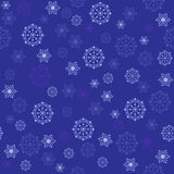 Blue Christmas background with snowflakes Royalty Free Stock Photos