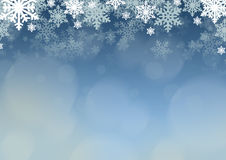 Blue Christmas background with  snowflakes Stock Image