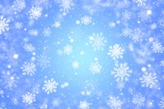 Blue christmas background with snowflakes. Blue winter background with snowflakes vector illustration