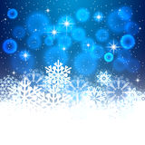 Blue Christmas background with space for text. Royalty Free Stock Photography