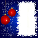 Blue christmas background- space for your text Royalty Free Stock Image