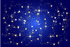 Blue christmas background with stars Stock Images