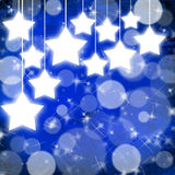 Blue Christmas background with stars Royalty Free Stock Image