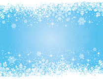 Blue Christmas background with stars and snowflake Stock Photo