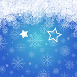 Blue christmas background with stars Royalty Free Stock Photo