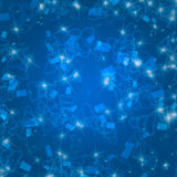 Blue christmas background. With christmas trees Royalty Free Stock Images
