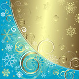 Blue christmas background (vector) Stock Photo