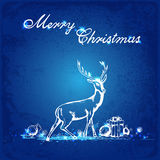 Blue Christmas background Stock Image