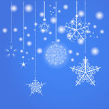 Blue Christmas background. Vector EPS10 Stock Image