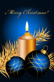 Blue christmas background. Vector blue and gold christmas background Royalty Free Stock Photos
