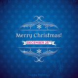 Blue christmas background, vector Royalty Free Stock Photo
