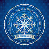 Blue christmas background, vector Stock Images