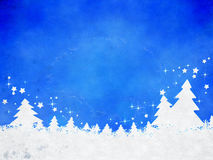 Blue christmas background. A watercolor image of a nice blue christmas background Royalty Free Stock Photo