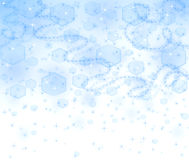 Blue christmas background with wind and snowflakes Royalty Free Stock Image