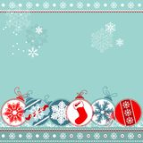 Blue Christmas Background With Balls Royalty Free Stock Photography