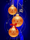 Blue christmas ball Royalty Free Stock Photos