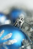Blue christmas ball Royalty Free Stock Image