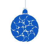 Blue christmas ball Stock Images