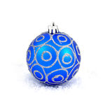 Blue christmas ball. Isolated on white Royalty Free Stock Image