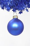 Blue Christmas ball Royalty Free Stock Images