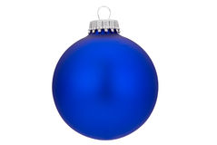 Blue Christmas ball. With gold top isolated over white with a clipping path Stock Images