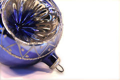 Blue Christmas ball. On a white background royalty free stock image