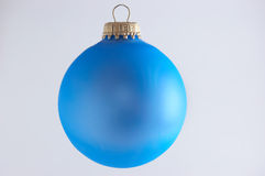 Blue Christmas ball. On white background Stock Photos