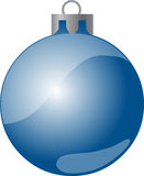 Blue Christmas Ball. An illustration of a blue Christmas decoration ball, isolated on a white background Stock Images