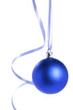 Blue christmas ball. Isolated over white background Stock Photo