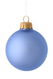 Blue christmas ball. Isolated on white Royalty Free Stock Photo