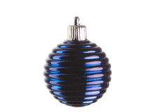 Blue christmas ball. On white ground Stock Photography