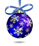 Blue Christmas ball.  Royalty Free Stock Photography