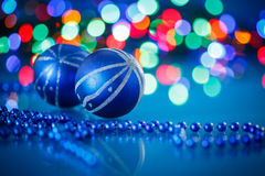 Blue Christmas ball Royalty Free Stock Photography