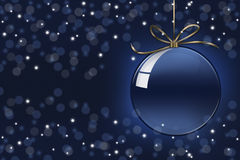 Blue christmas ball with background Stock Image