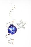 Blue christmas ball Stock Photo
