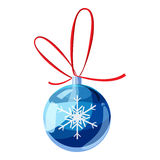 Blue christmas ball icon, cartoon style Royalty Free Stock Images