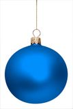 Blue christmas ball isolated. On white background Royalty Free Stock Image