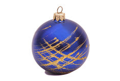 Blue Christmas ball Stock Photography
