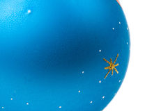 Blue christmas ball isolated on white Stock Images