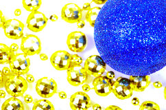 Blue Christmas ball with a many  balls. Stock Image